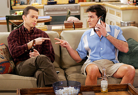 Jon Cryer and Charlie Sheen on Two And A Half Men
