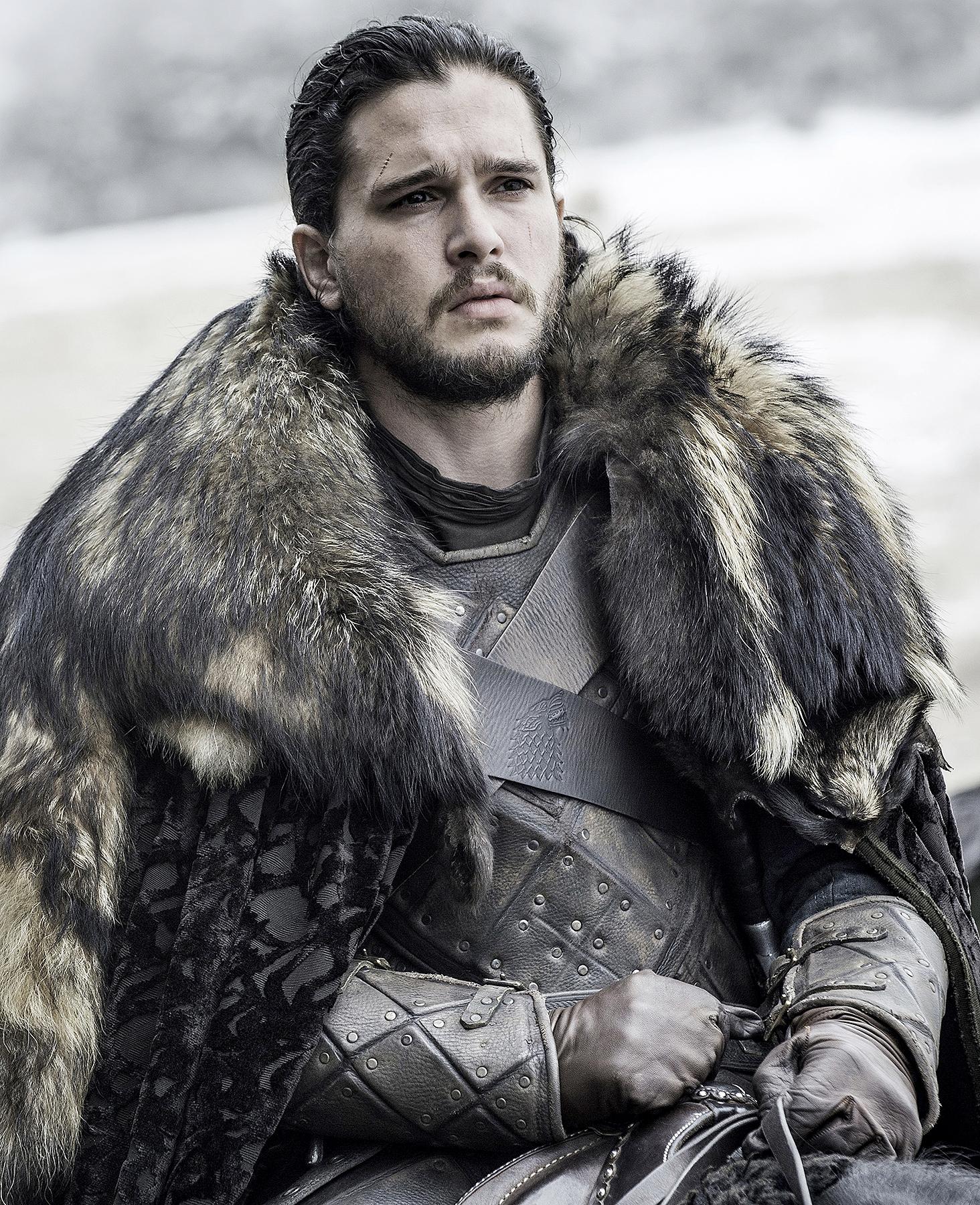 Kit Harington as Jon Snow on Game of Thrones.