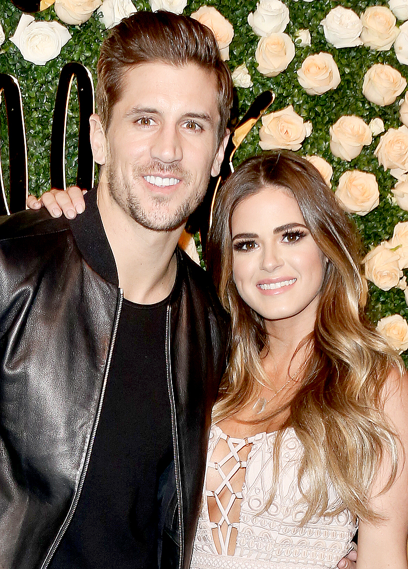 Jordan Rodgers and JoJo Fletcher attend Becca Tilley's Blog and YouTube launch party at The Bachelor Mansion on December 5, 2016 in Los Angeles, California.
