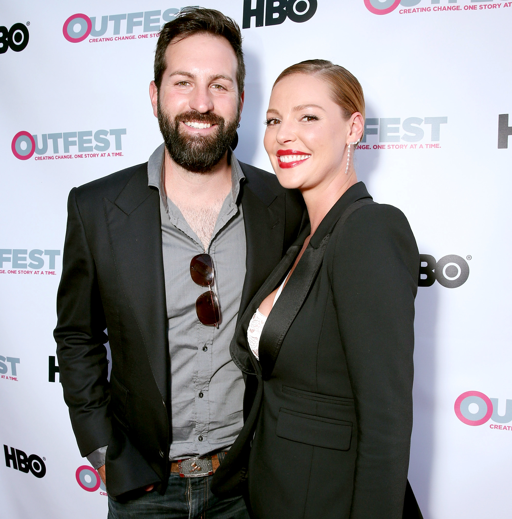 Josh Kelley and Katherine Heigl attend the premiere of IFC Film's