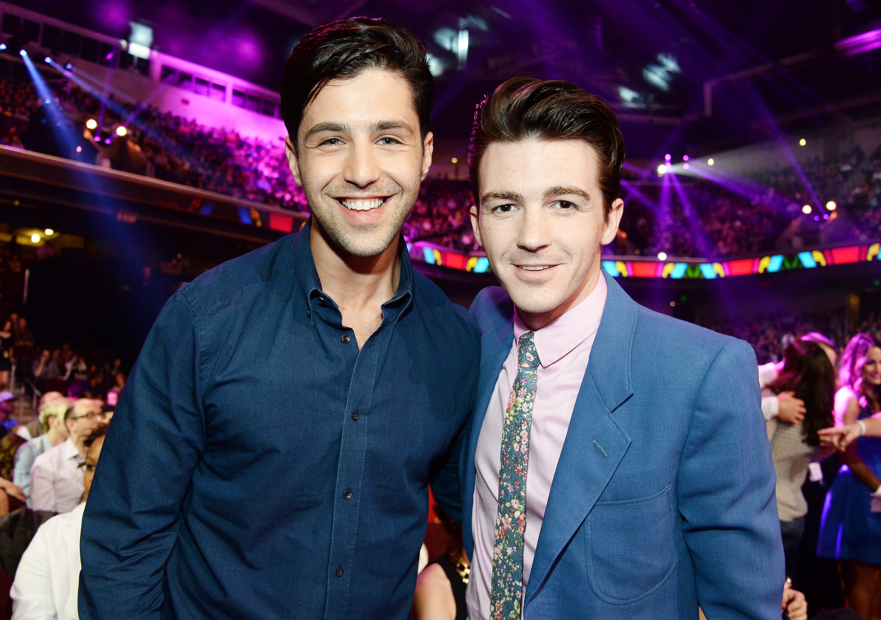 Drake Bell Josh Peck - All grown-up! Peck and Bell had both totally transformed by the time they reunited at the 2014 Kids' Choice Awards in Los Angeles.