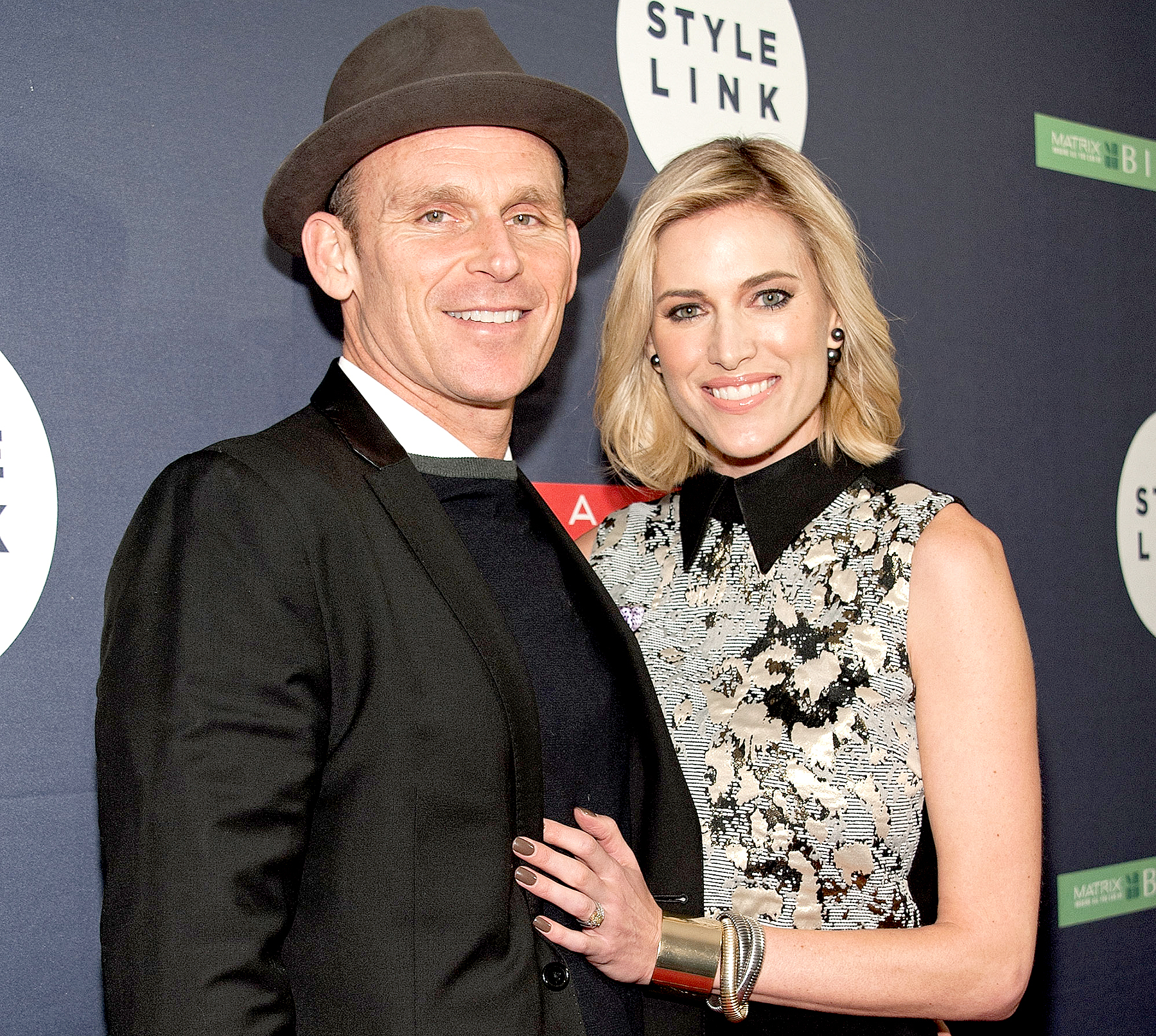 Josh Taekman and Kristen Taekman attend the Matrix Biolage Cleansing Conditioner Launch Event at Crosby Street Hotel on February 19, 2015 in New York City.