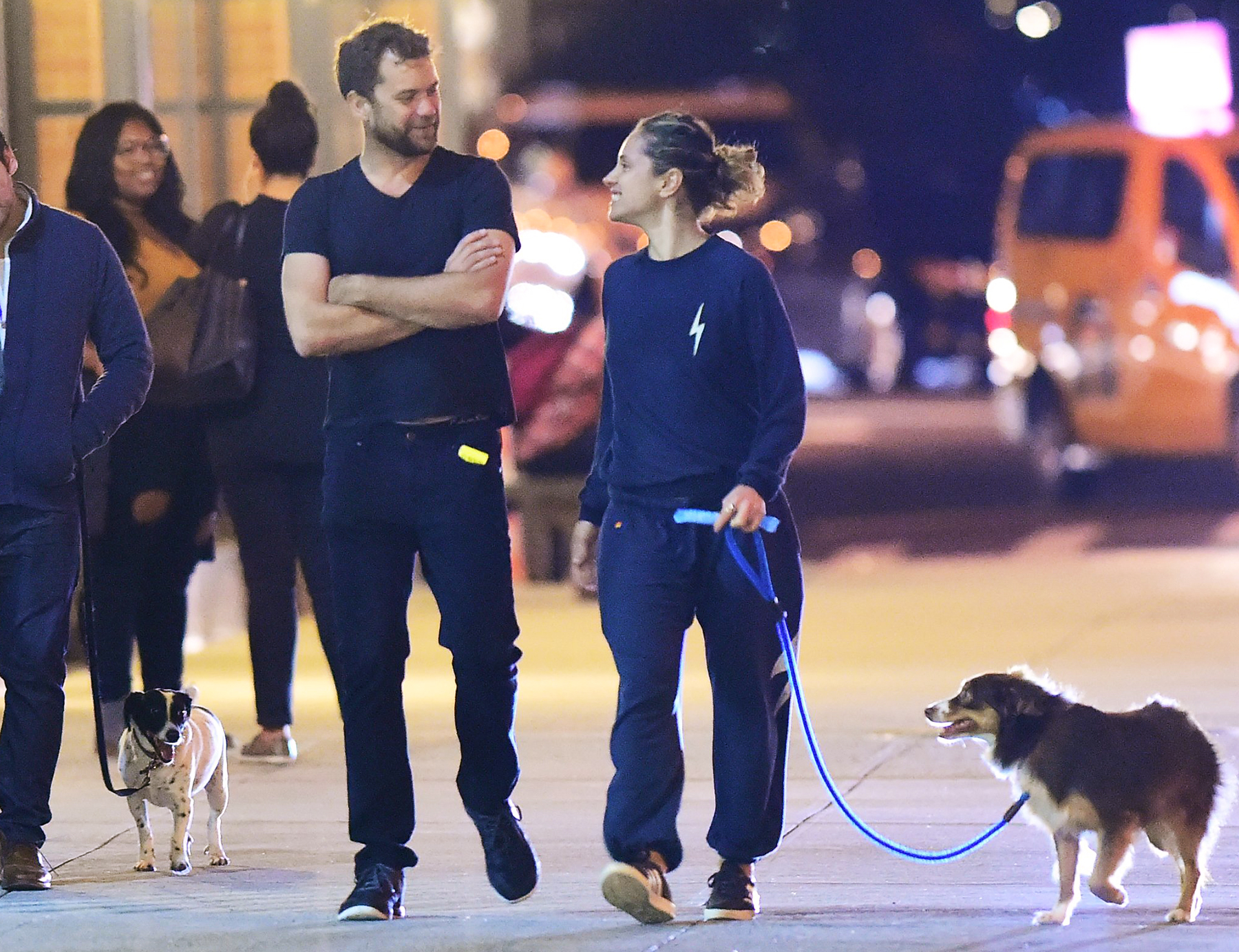 Joshua Jackson is spotted on a late night stroll with Margarita Levieva in September 2016.