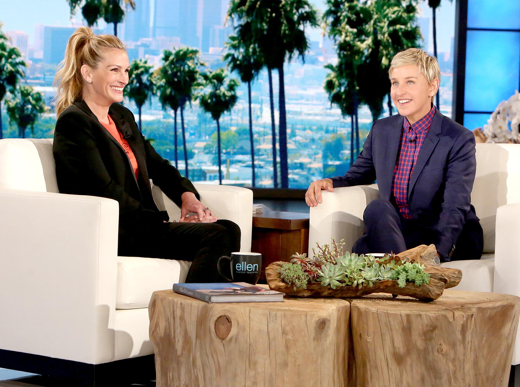 Julia Roberts and Ellen DeGeneres