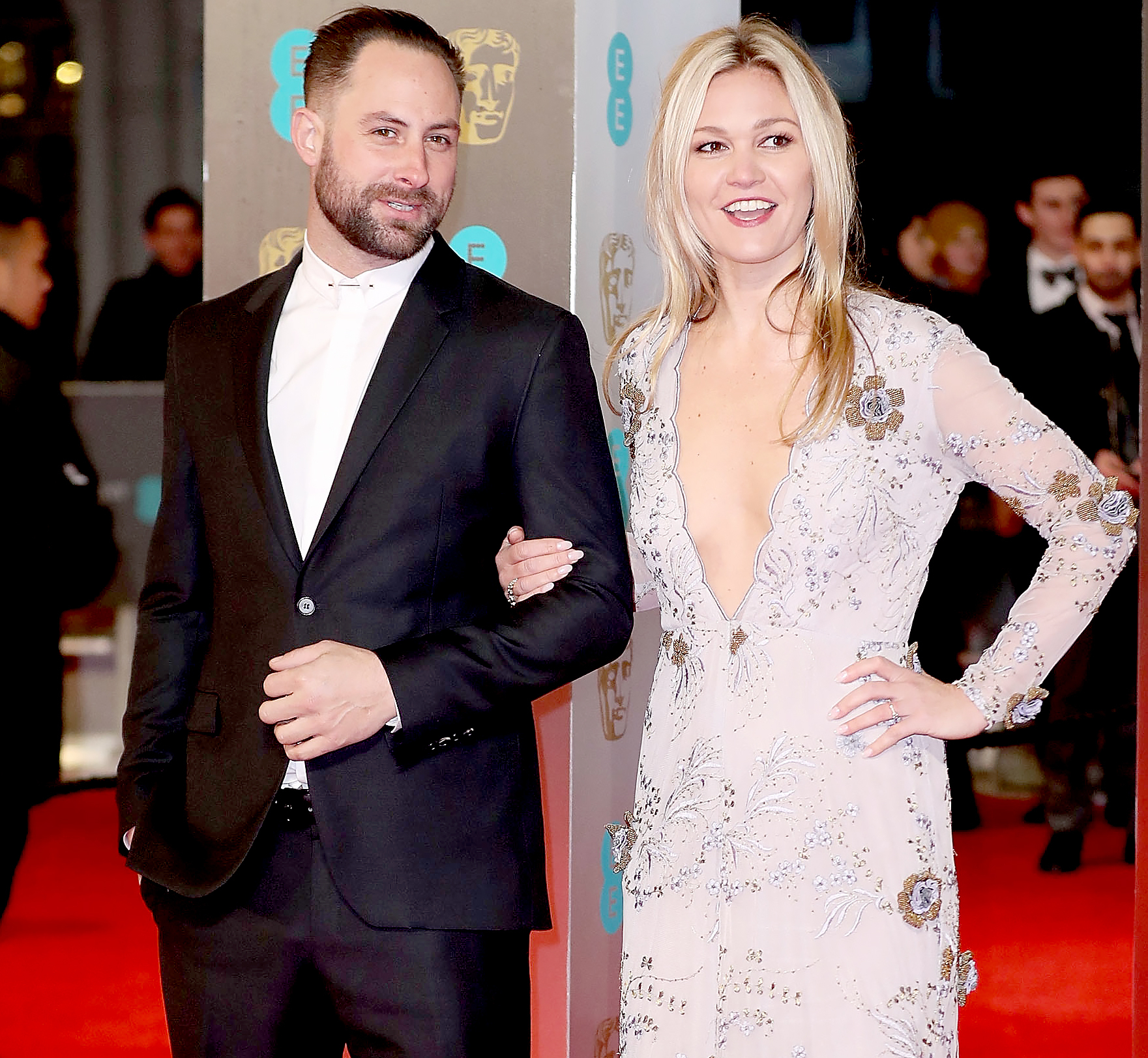 Preston J.Cook and Julia Stiles attend the 70th EE British Academy Film Awards (BAFTA) at Royal Albert Hall on February 12, 2017 in London, England.