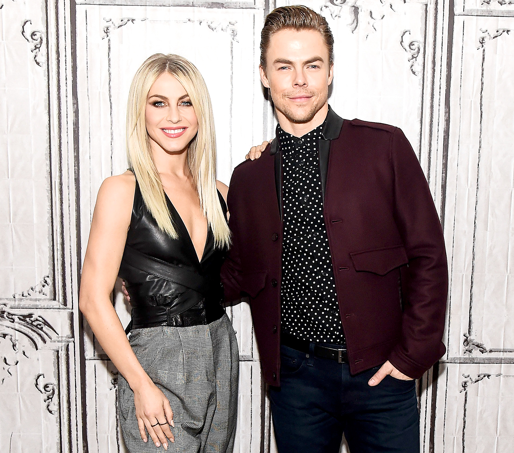 Julianne Hough and Derek Hough attend AOL Build to discuss the 'Move Live' Performance Tour at AOL HQ on December 14, 2016 in New York City.