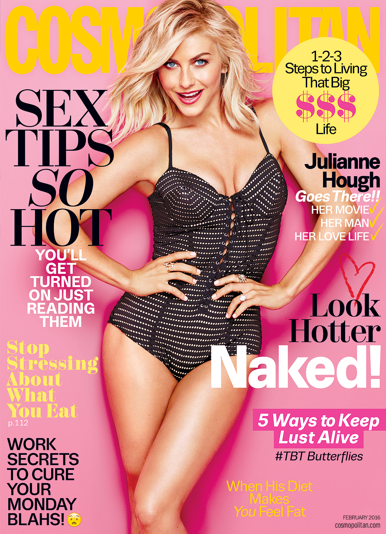Julianne Hough on the cover of Cosmopolitan