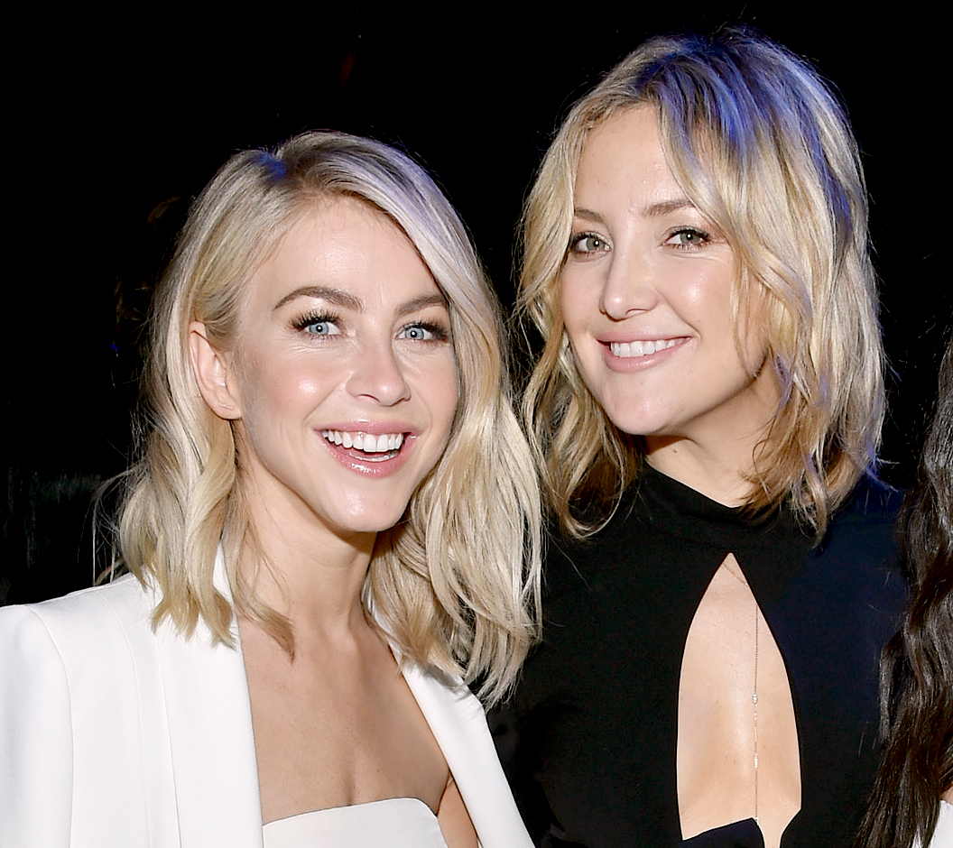 Julianne Hough and Kate Hudson attend the DirecTV Super Saturday Night co-hosted by Mark Cuban's AXS TV at Pier 70 on February 6, 2016.