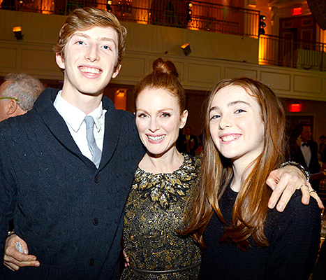 Julianne Moore with Liv and Caleb