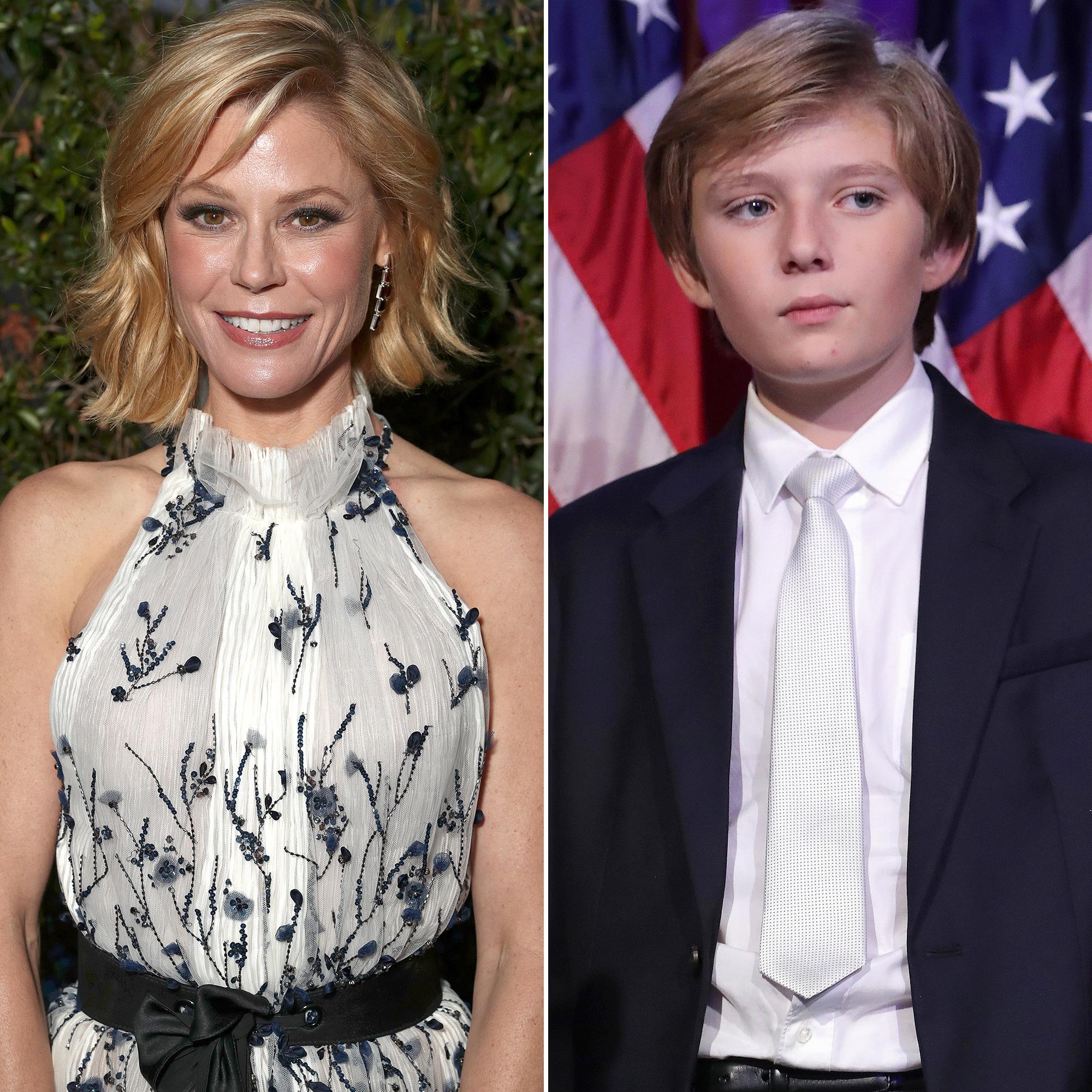 Julie Bowen and Barron Trump