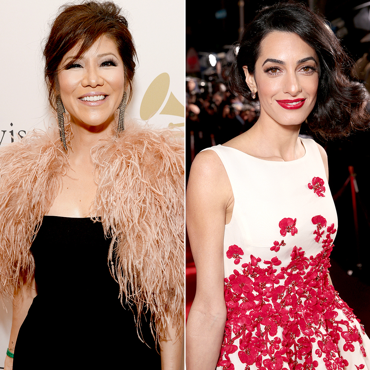 Julie Chen and Amal Clooney