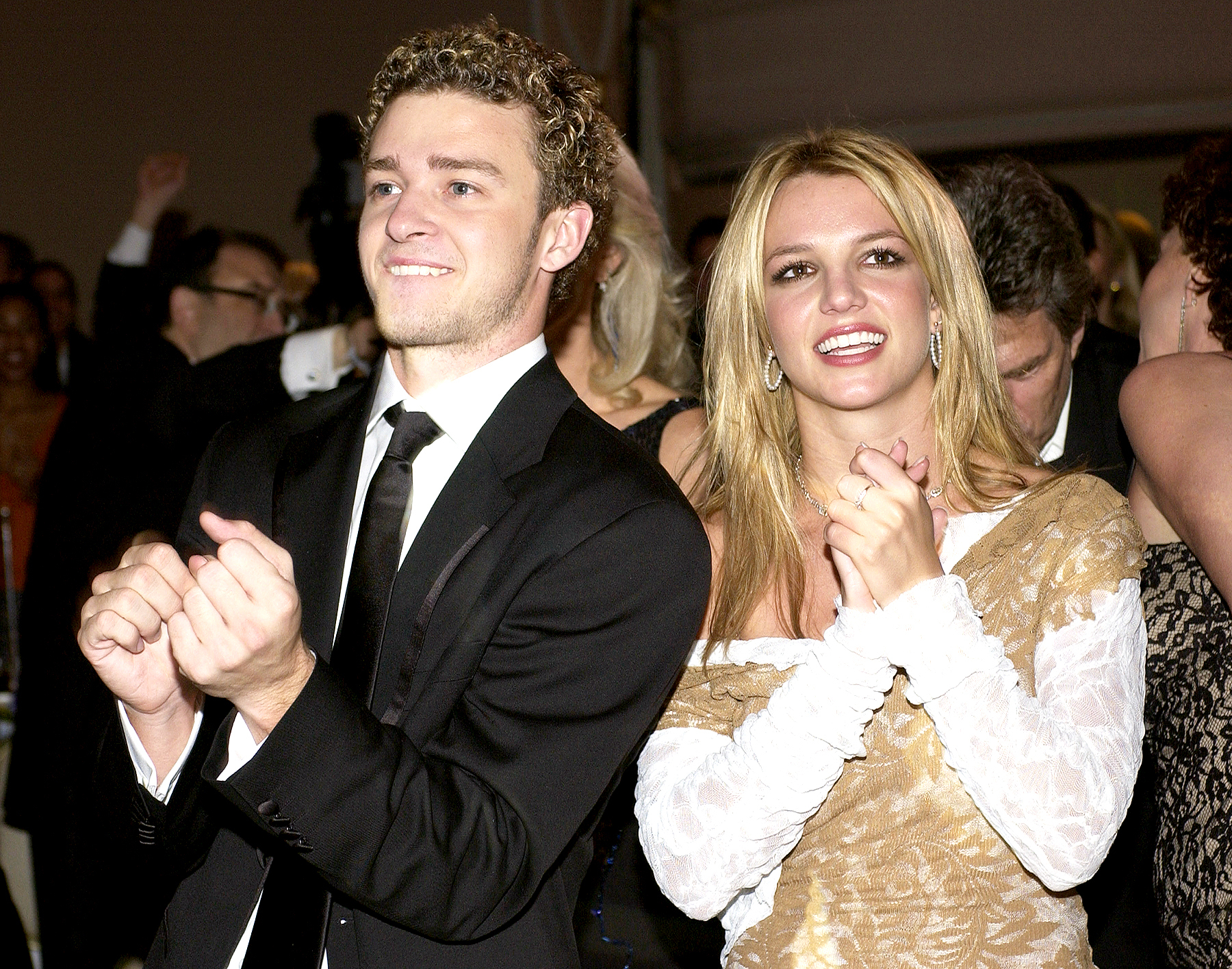 Justin Timberlake and Britney Spears at the Beverly Hills Hotel in Beverly Hills in 2002.