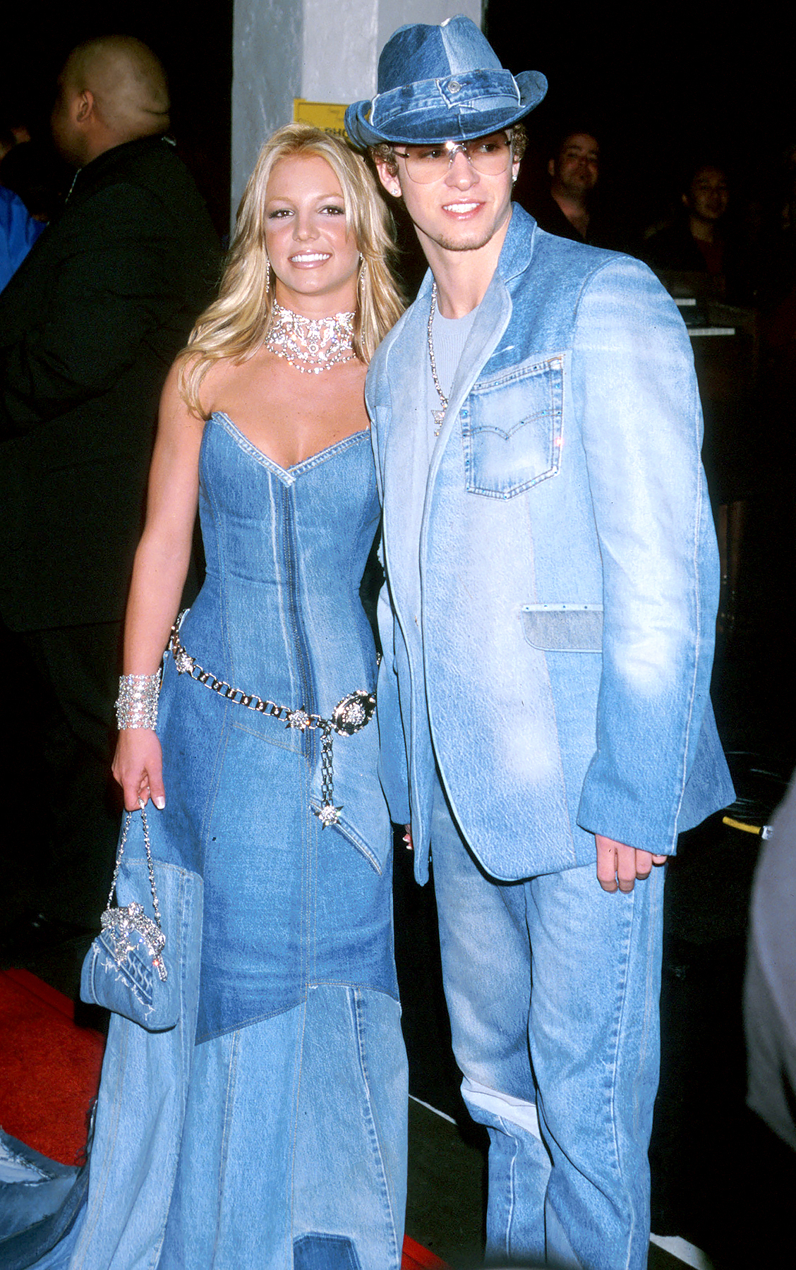 Britney Spears and Justin Timberlake at the Shrine Auditorium in Los Angeles, CA at the 2001 AMAs.