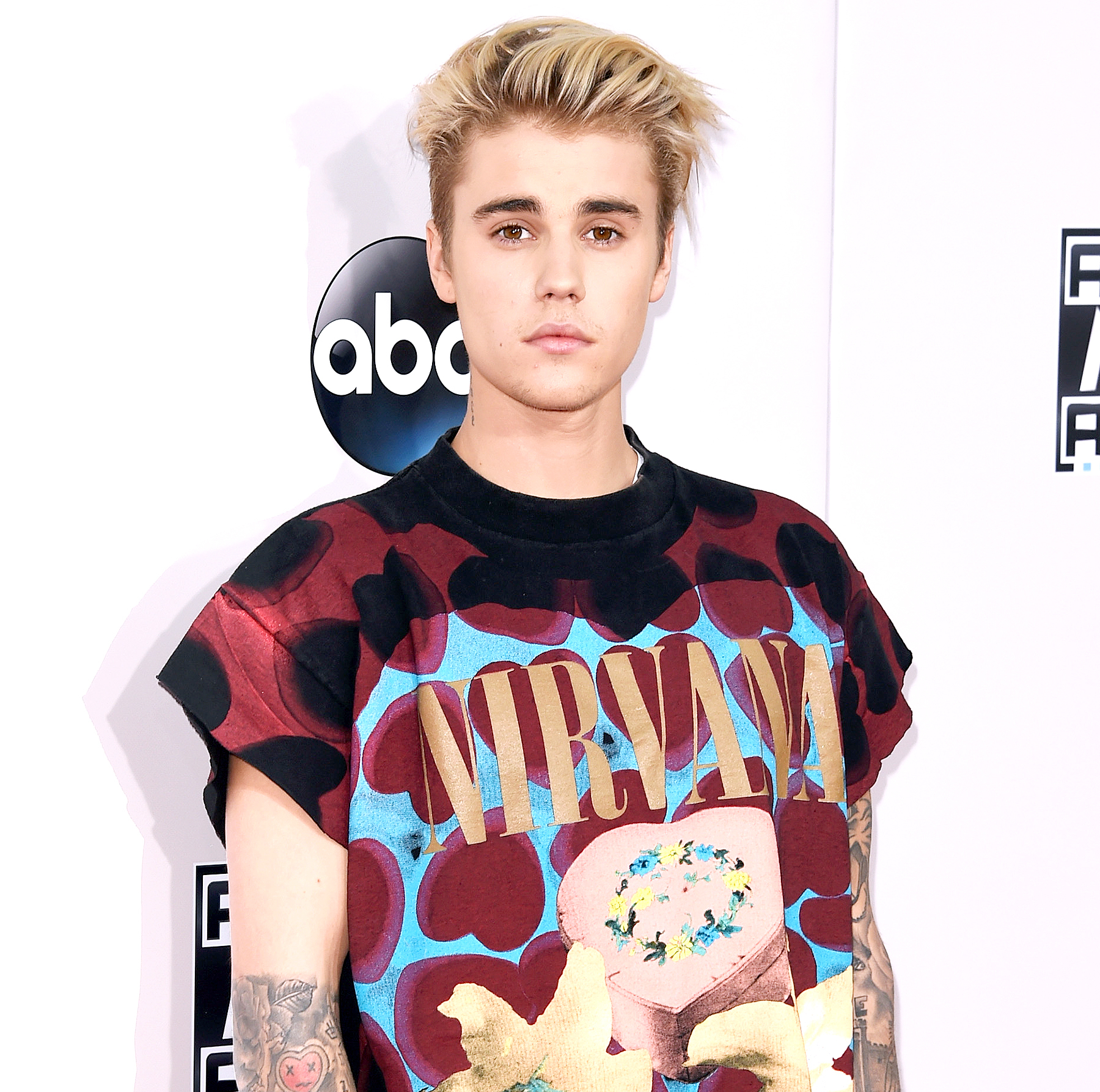 Justin Bieber attends the 2015 American Music Awards at Microsoft Theater on November 22, 2015 in Los Angeles, California.