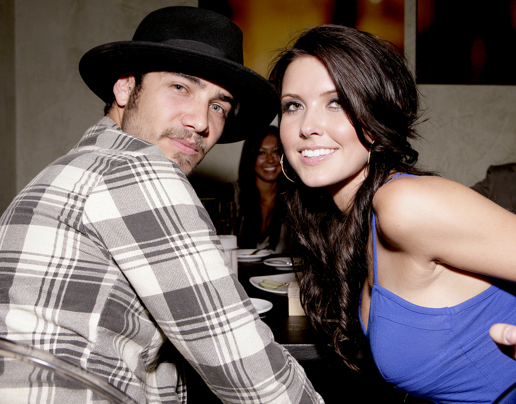 Justin Bobby and Audrina Patridge at the Dolce Five Year Anniversary Party at Dolce on May 20, 2008 in Los Angeles, California.