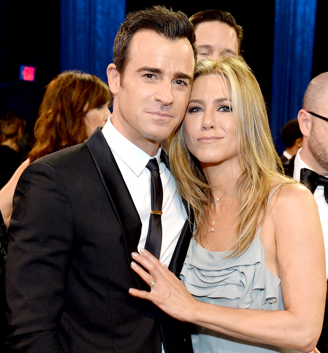 Justin Theroux and Jennifer Aniston attend the 21st Annual Critics' Choice Awards.