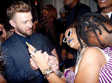 Justin Timberlake, Rihanna, and Travis Scott