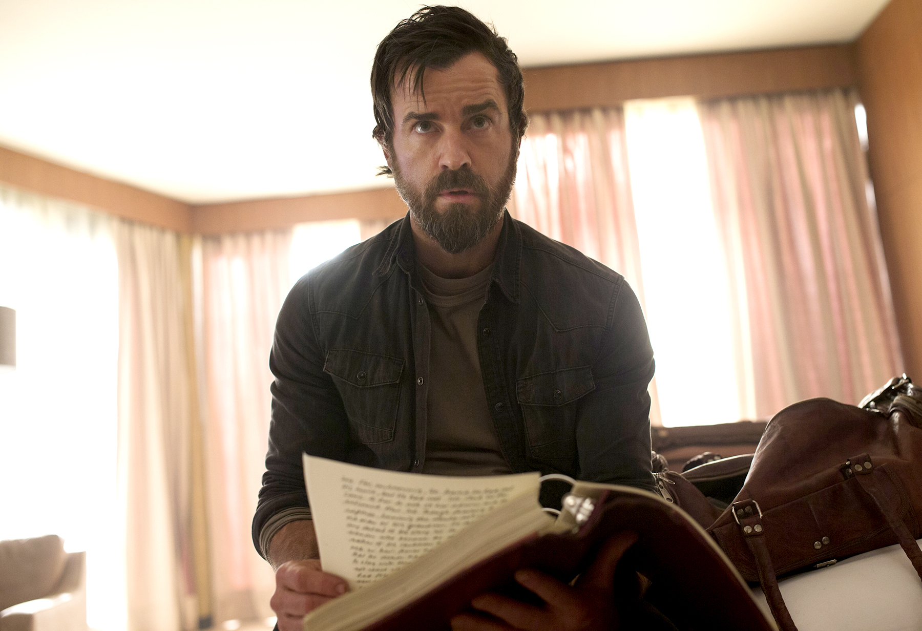 Justin Theroux on The Leftovers.
