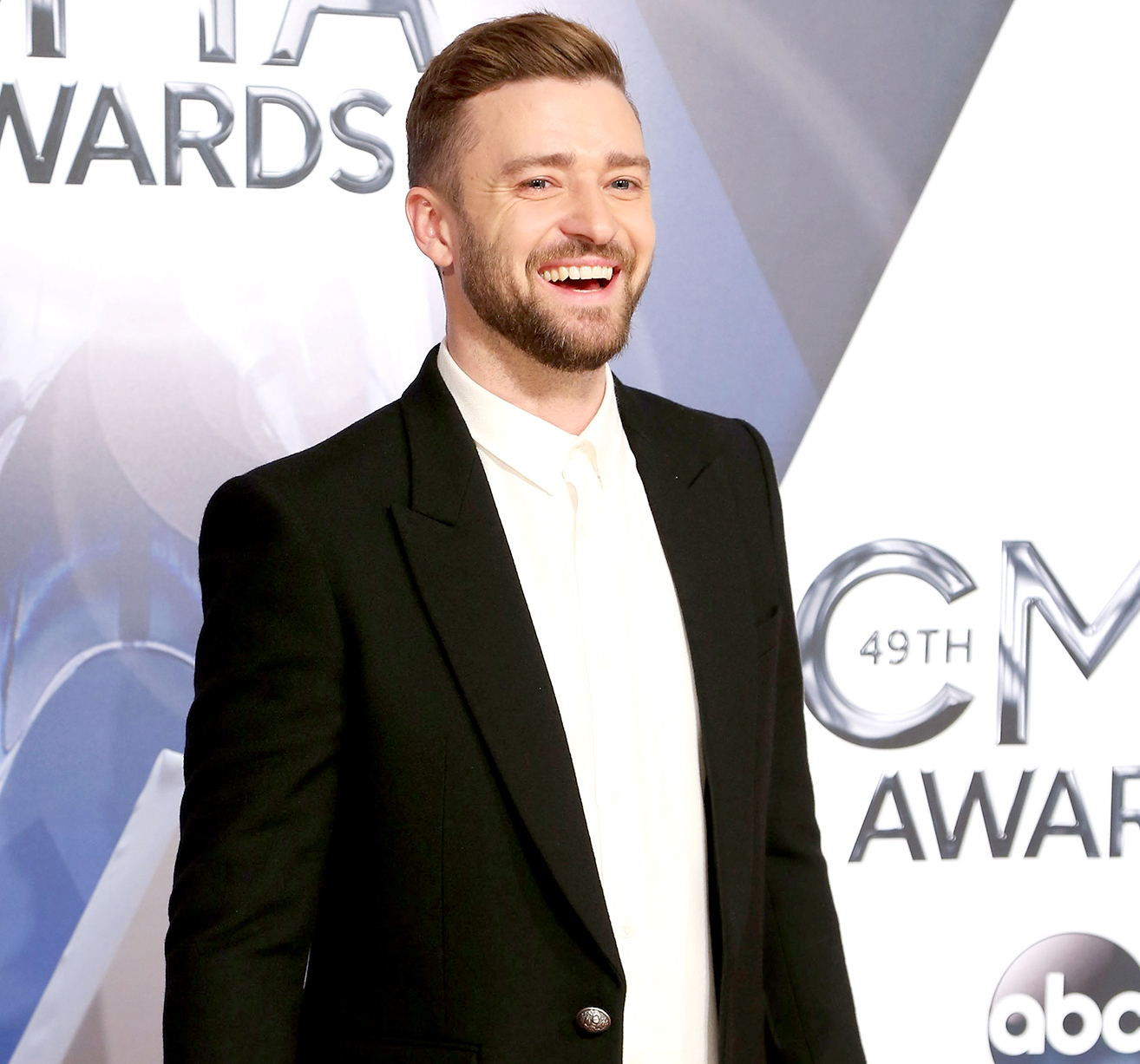 Justin Timberlake attends the 49th annual CMA Awards at the Bridgestone Arena on November 4, 2015 in Nashville, Tennessee.