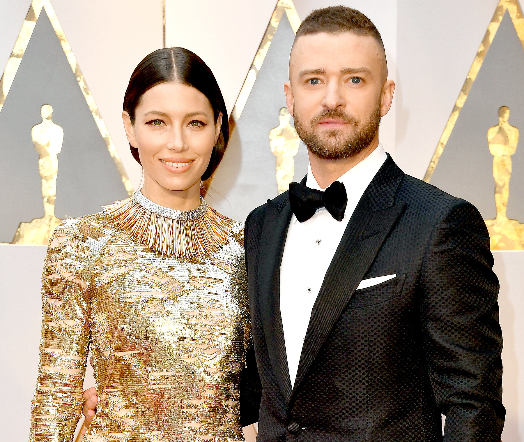 Jessica Biel and Justin Timberlake attend the 89th Annual Academy Awards at Hollywood & Highland Center on February 26, 2017 in Hollywood, California.