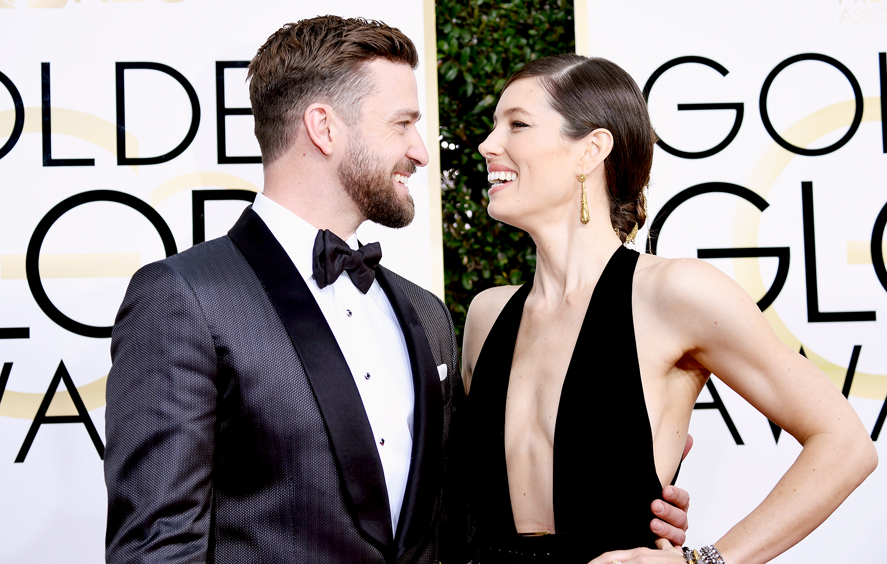 Justin Timberlake and Jessica Biel attend the 74th Annual Golden Globe Awards at The Beverly Hilton hotel in Beverly Hills on January 8, 2017.