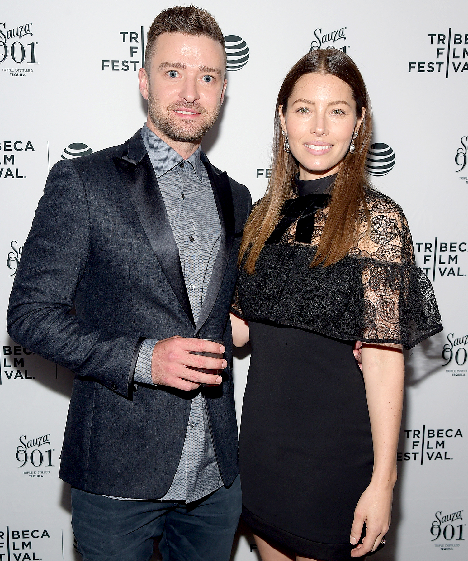 Justin Timberlake and Jessica Biel arrive at the Tribeca Film Festival