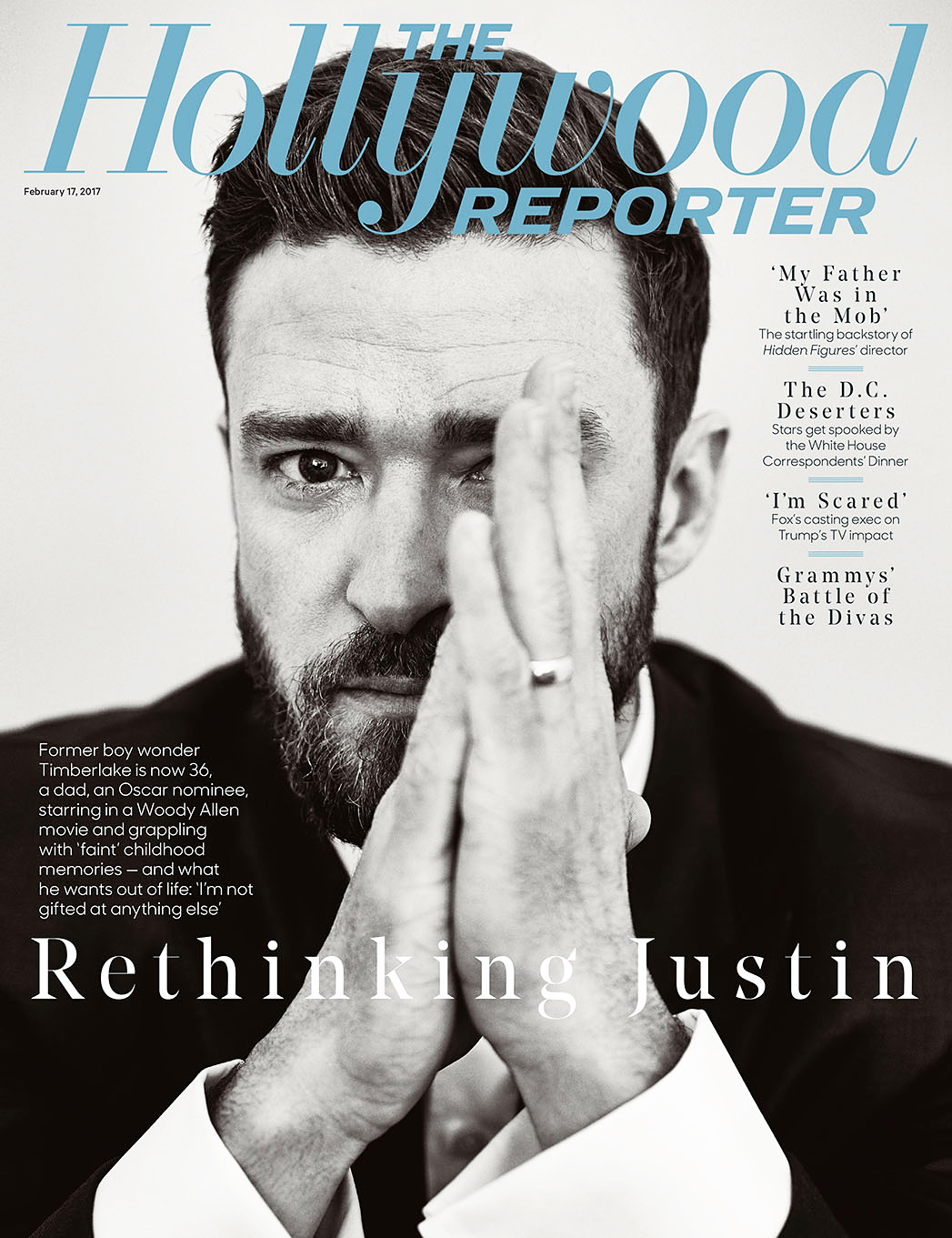 Justin Timberlake The Hollywood Reporter cover