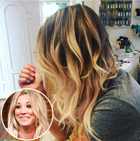 Kaley cuoco goes back to penny length lob hairstyle before kaley cuocos hair before her cut kaley cuocoinstagram inset lloyd bishopnbcgetty pmusecretfo Gallery