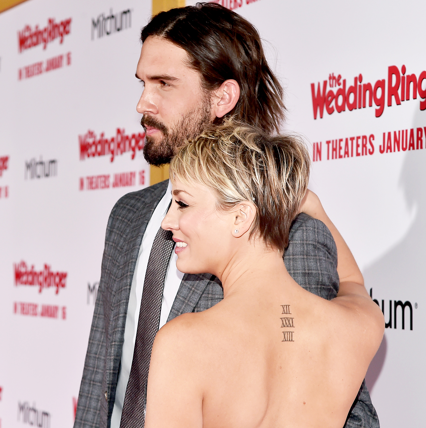 Ryan Sweeting and Kaley Cuoco arrive to the premiere of Screen Gems'