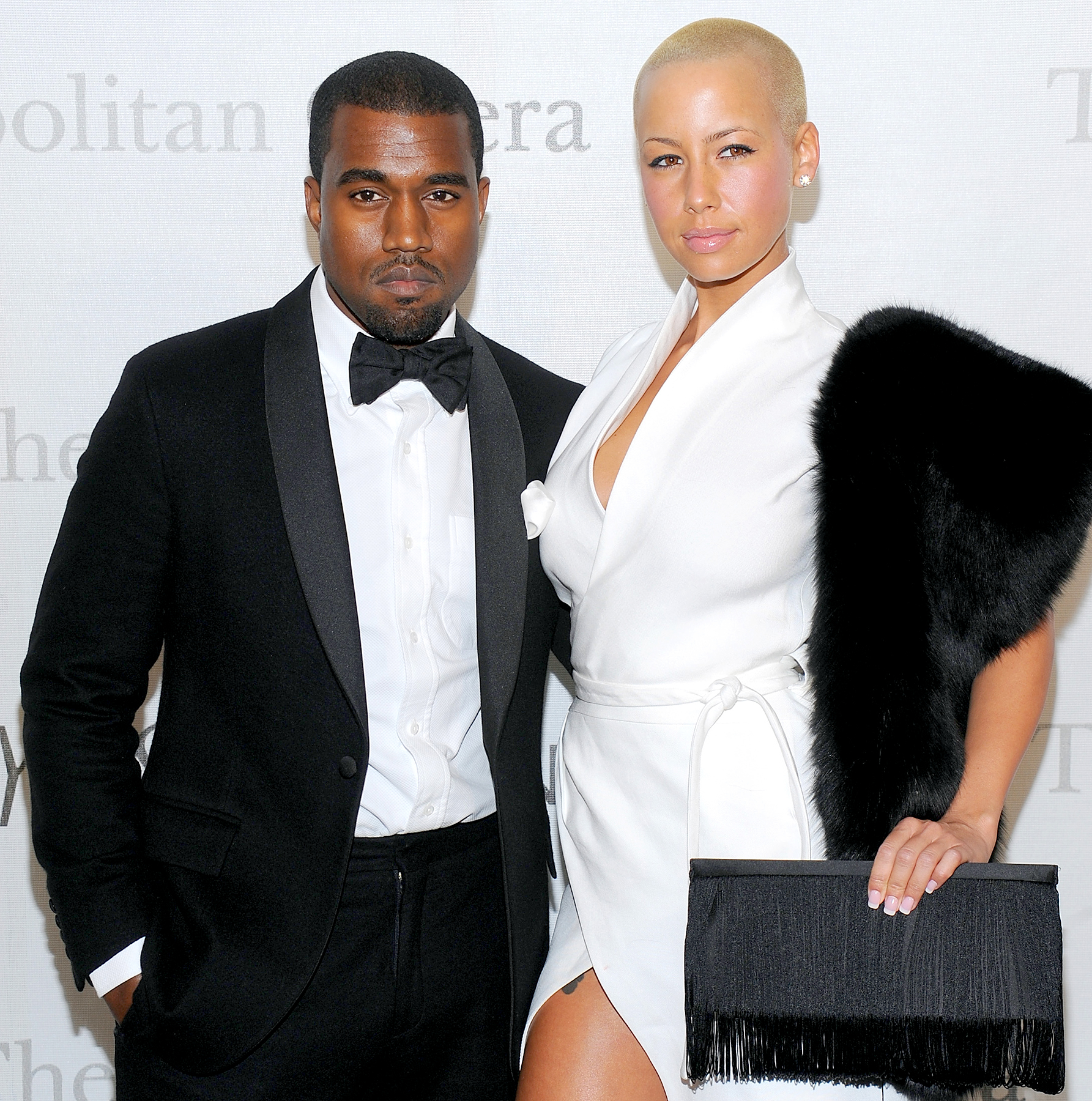Kanye West and Amber Rose attend the Metropolitan Opera's 125th-anniversary gala at Metropolitan Opera House at Lincoln Center on March 15, 2009, in New York City.