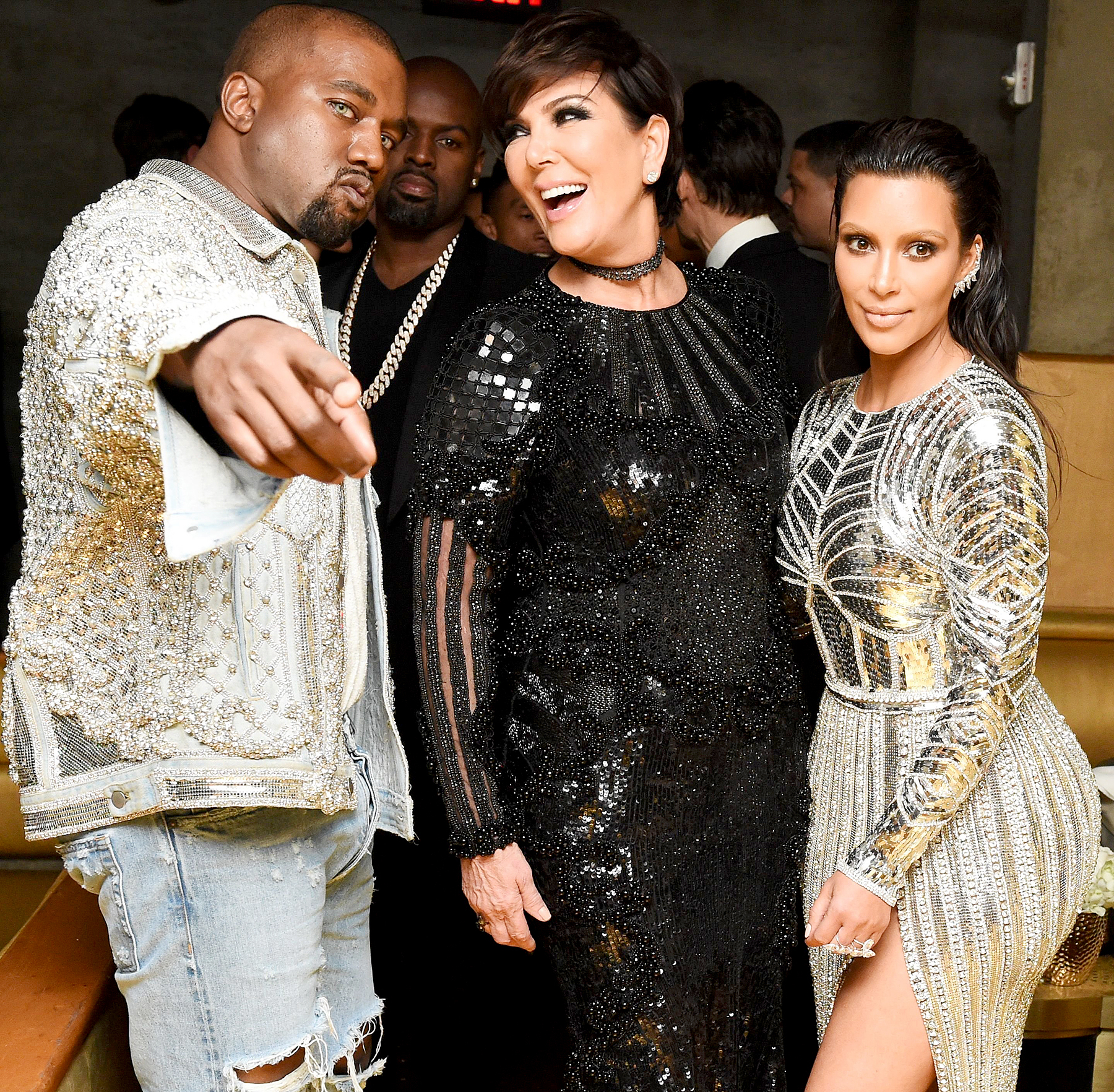 Kanye West, Kris Jenner, and Kim Kardashian