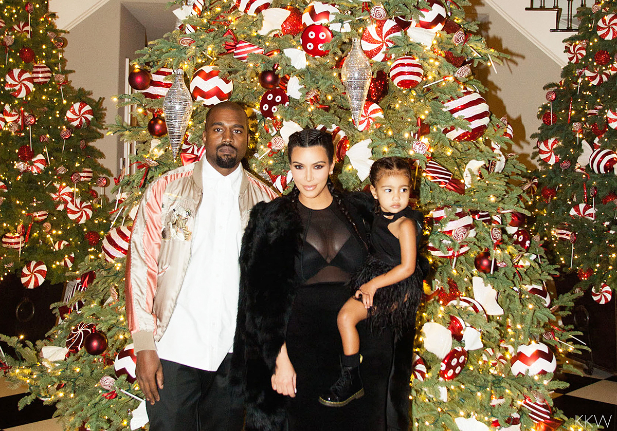 Kanye West, Kim Kardashian, and North West