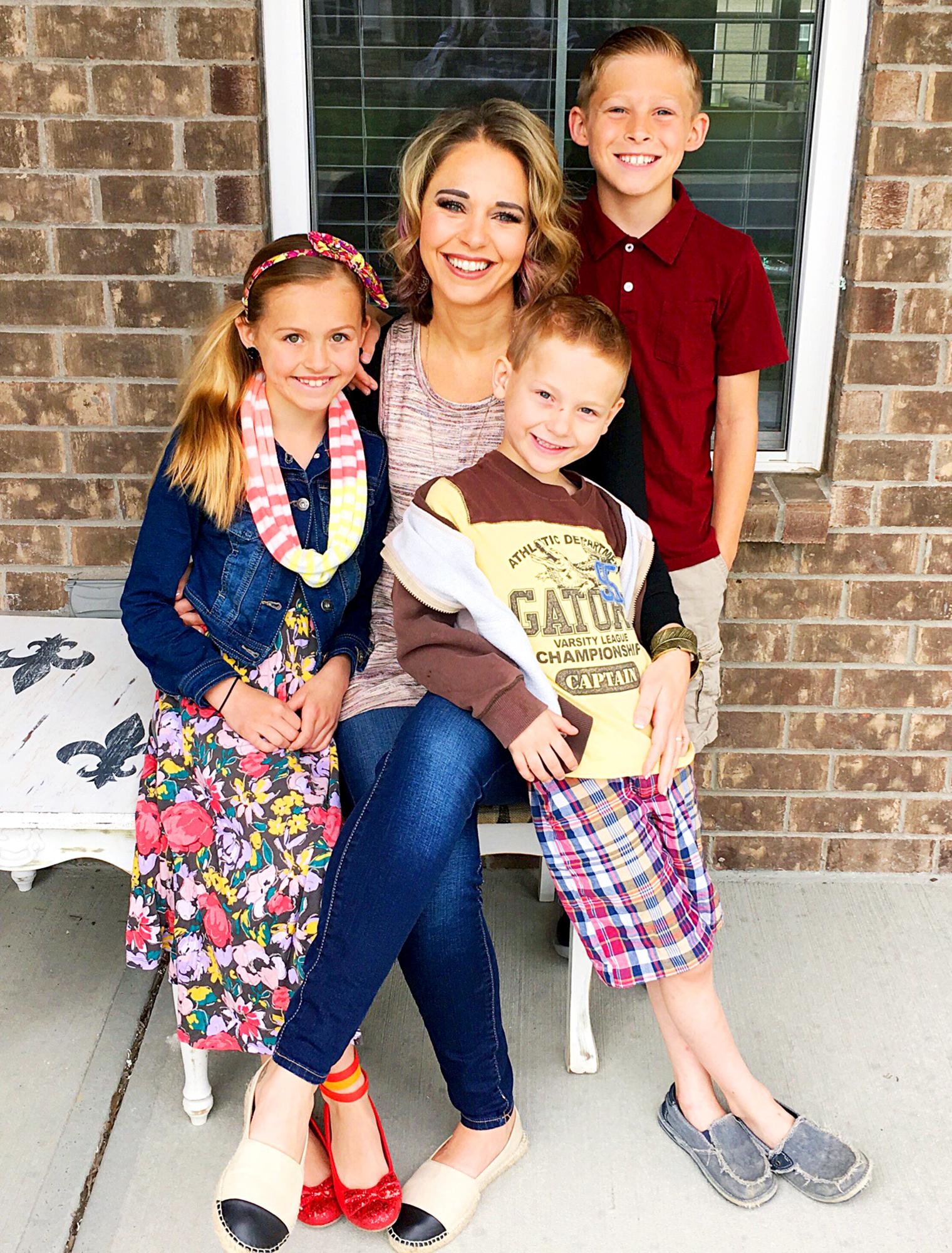 Kara Lewis Newton, Lila, Jack and Silas.