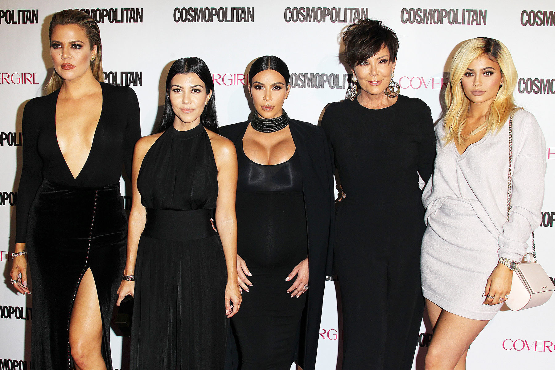 Kris Jenner with daughters Khoe, Kourtney, Kim, and Kylie, at an event in October 2015