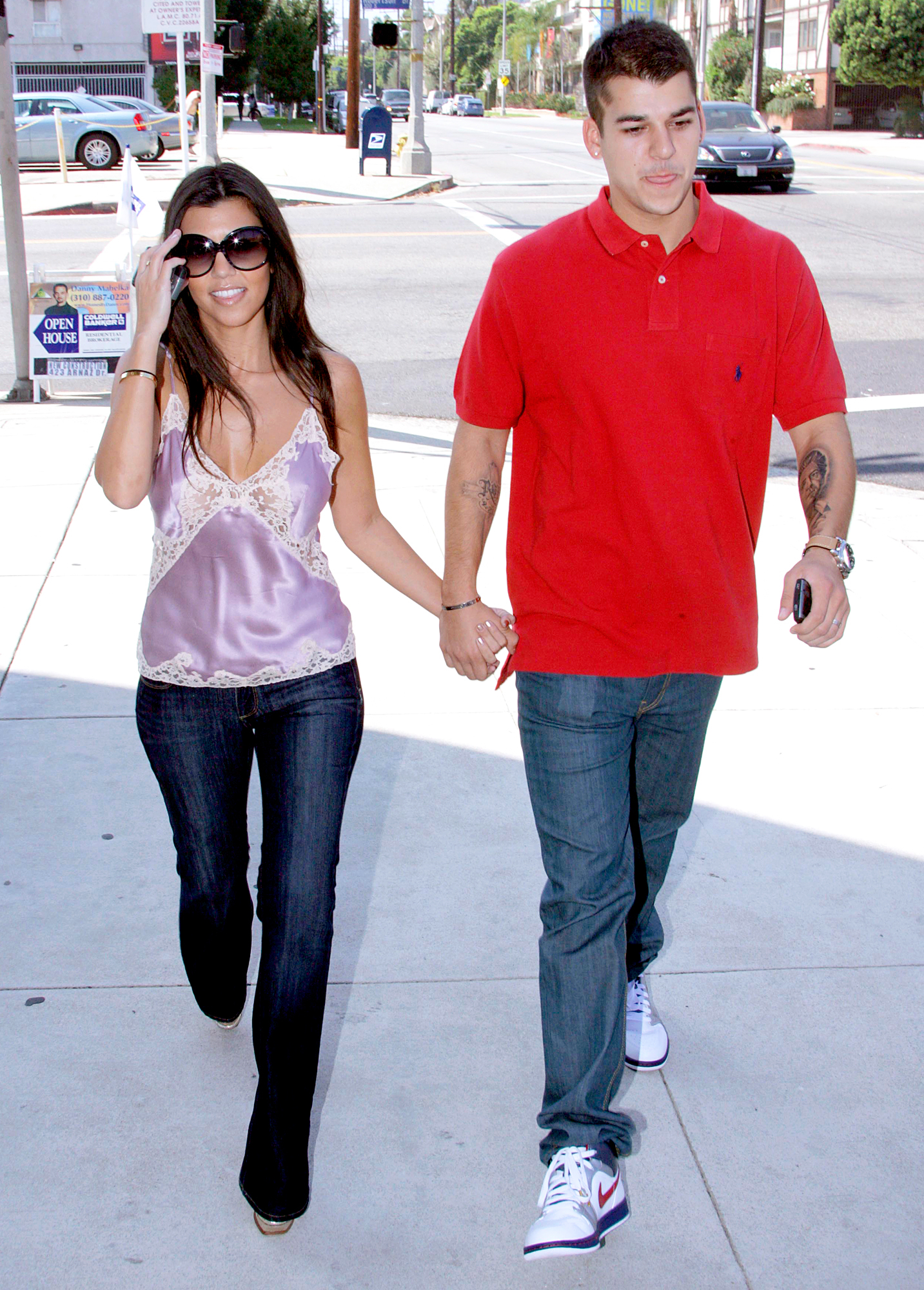 Kourtney Kardashian and Rob Kardashian
