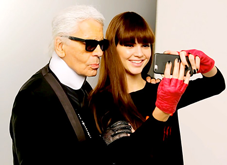 Karl Lagerfeld and Kendall Jenner