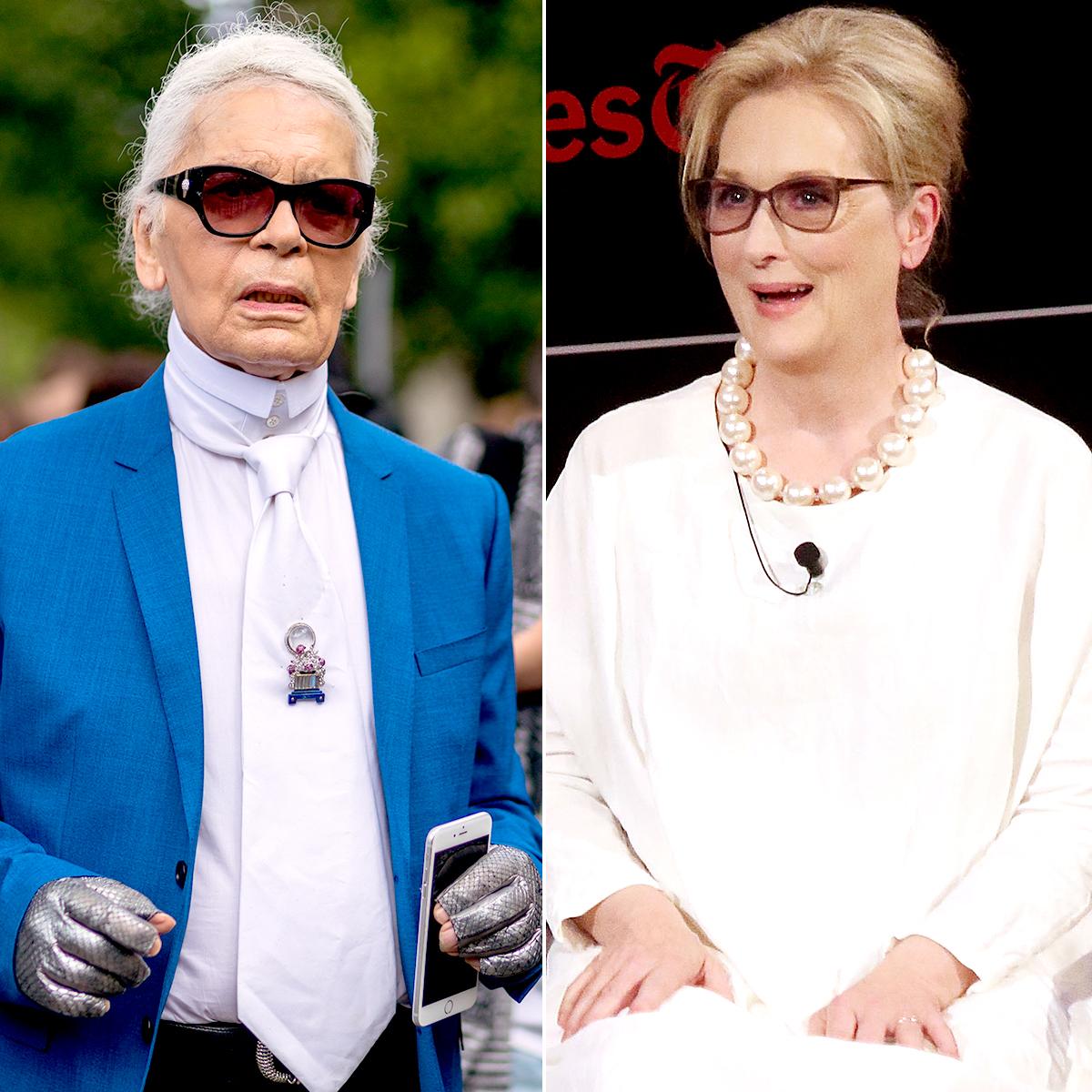 Karl Lagerfeld and Meryl Streep