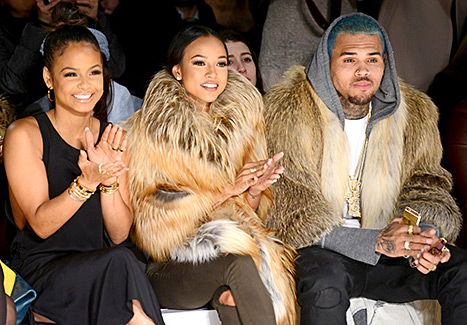 Christina Milian, Karrueche Tran, and Chris Brown