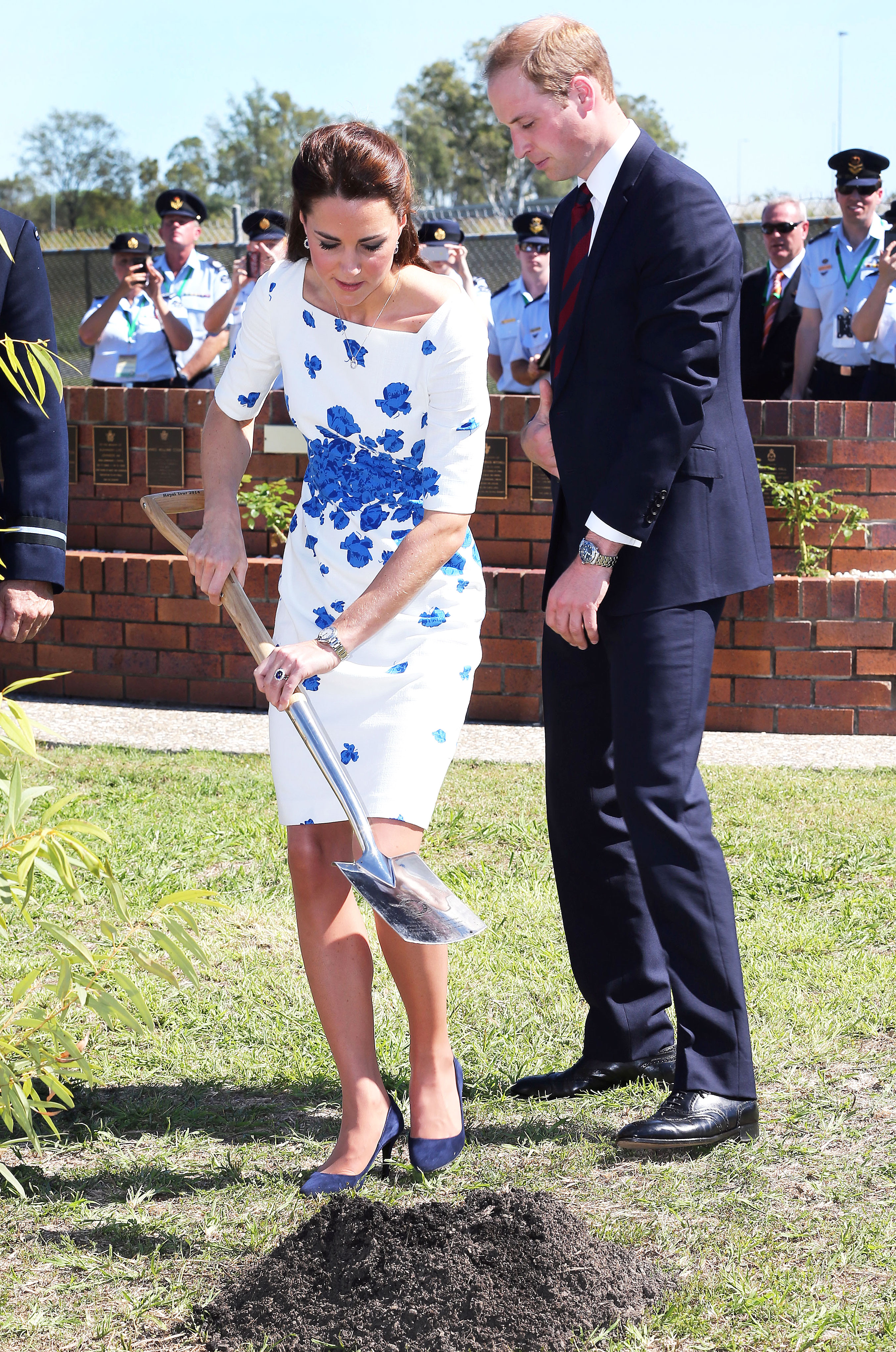 97e51ef07c46 Duchess Kate and Prince William plant a tree as they visit RAAF Amberley on  April 19, 2014, in Brisbane, Australia. Pool/Samir Hussein/WireImage