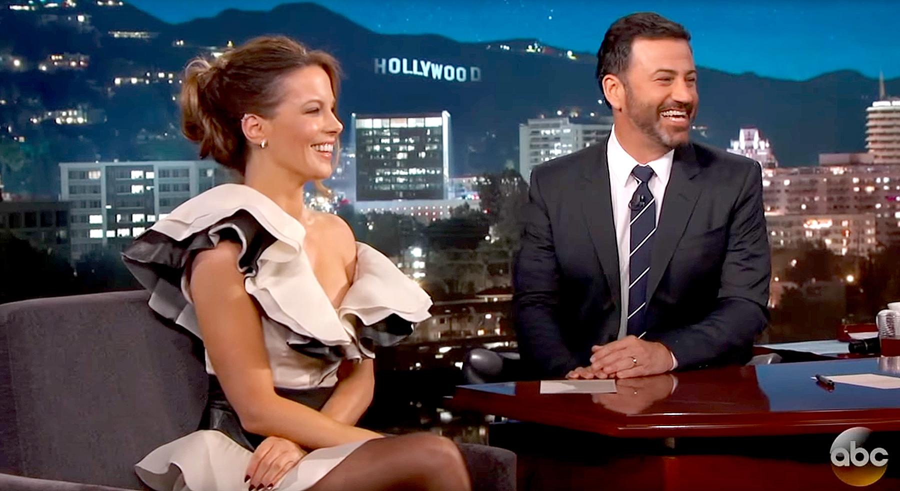 Kate Beckinsale and Jimmy Kimmel