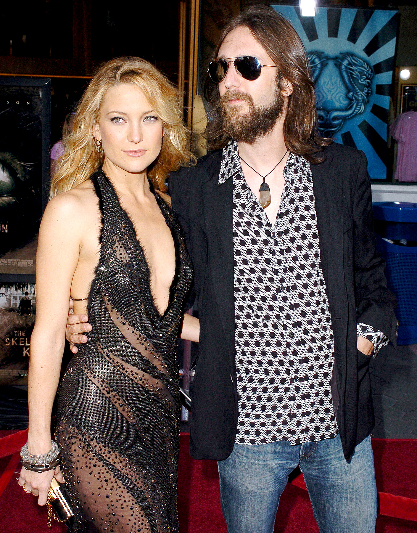 """Kate Hudson and Chris Robinson during """"The Skeleton Key"""" Los Angeles Premiere - Arrivals at Universal Studios Cinema in Universal City, California, United States."""