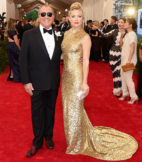 Kate Hudson and Michael Kors at Met