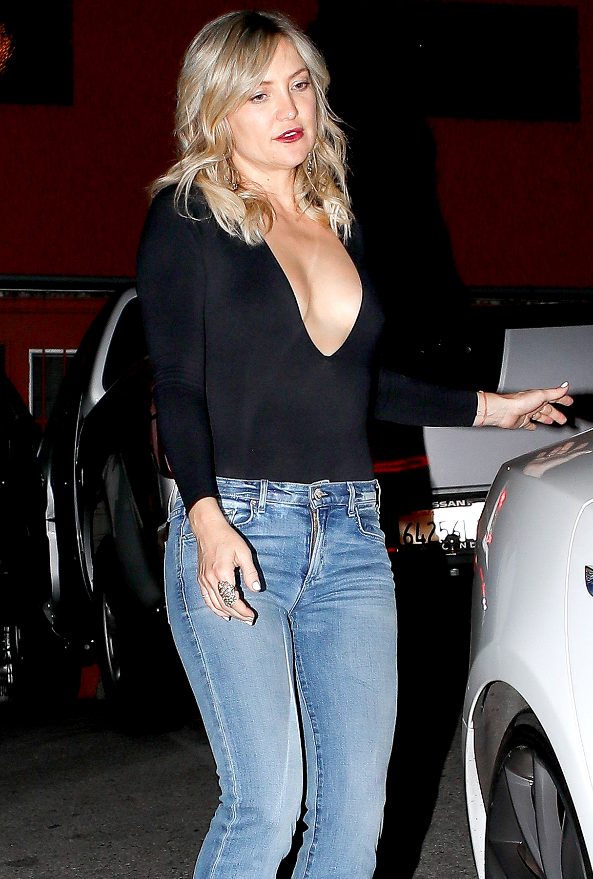 Kate Hudson is spotted leaving Picca Peruvian Cantina after celebrating her birthday with close friends and family.