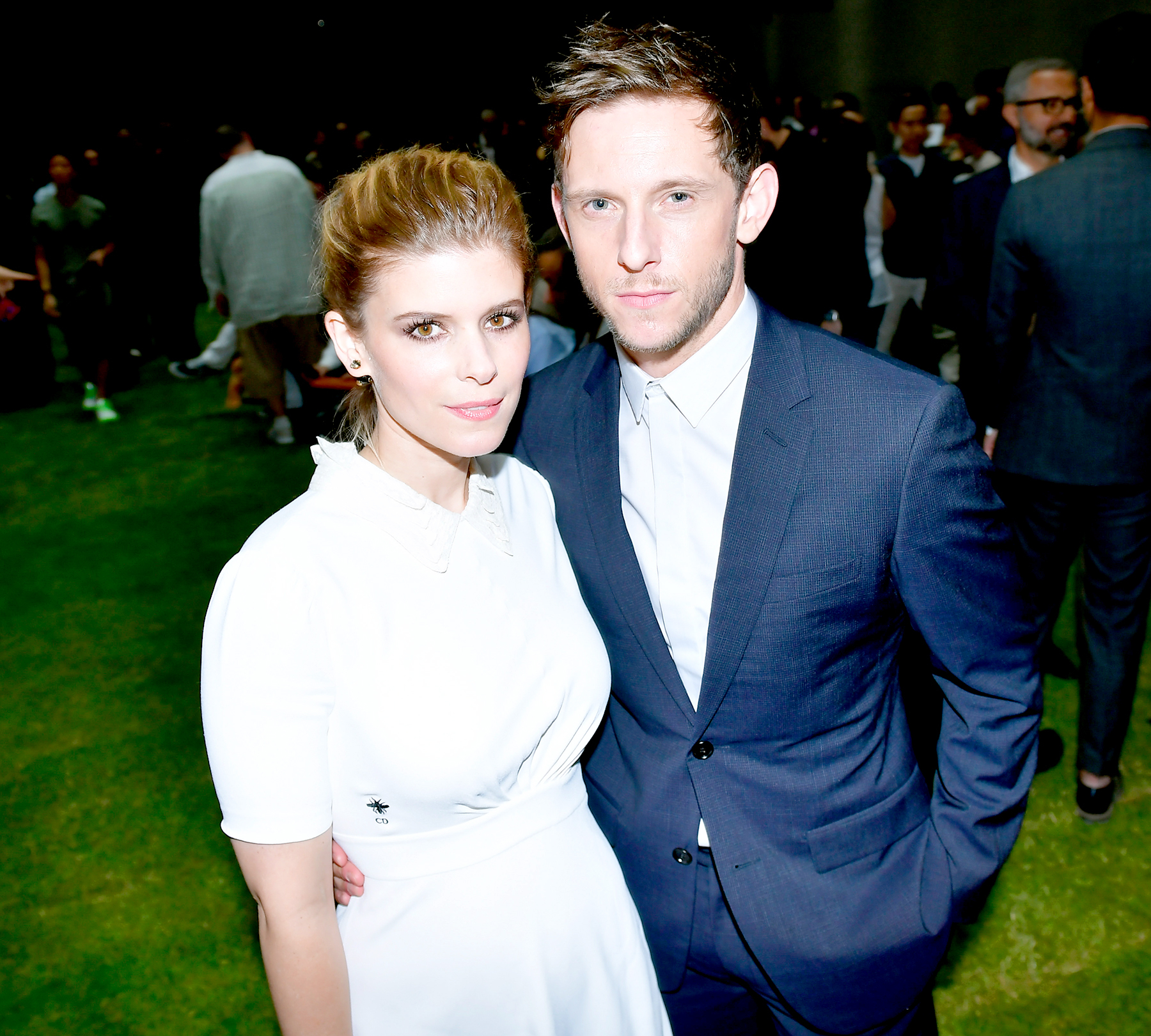 Jamie Bell and Kate Mara attend the Dior Homme Menswear Spring/Summer 2018 show as part of Paris Fashion Week on June 24, 2017 in Paris, France.