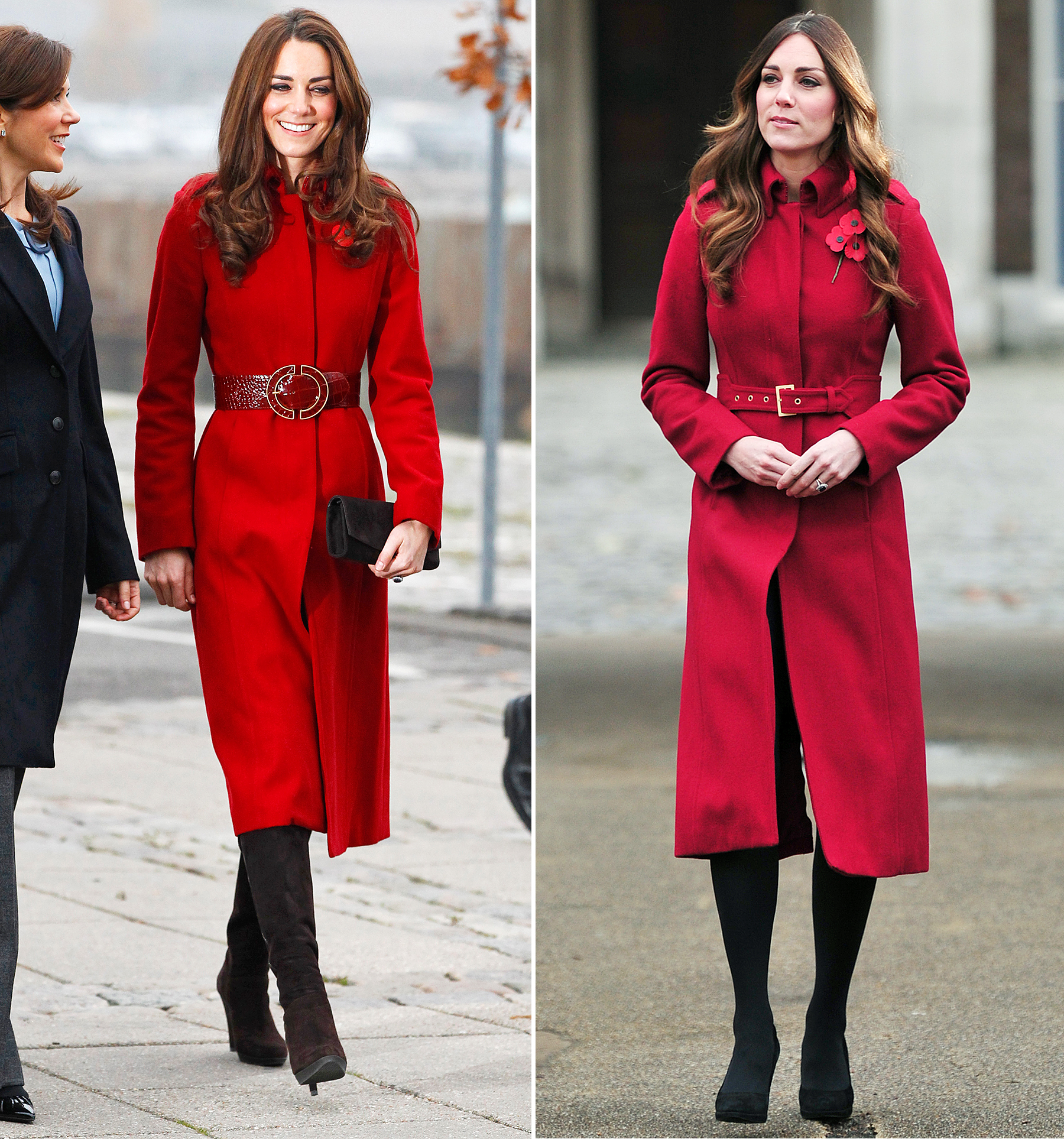 Kate Middleton in 2011 and 2013