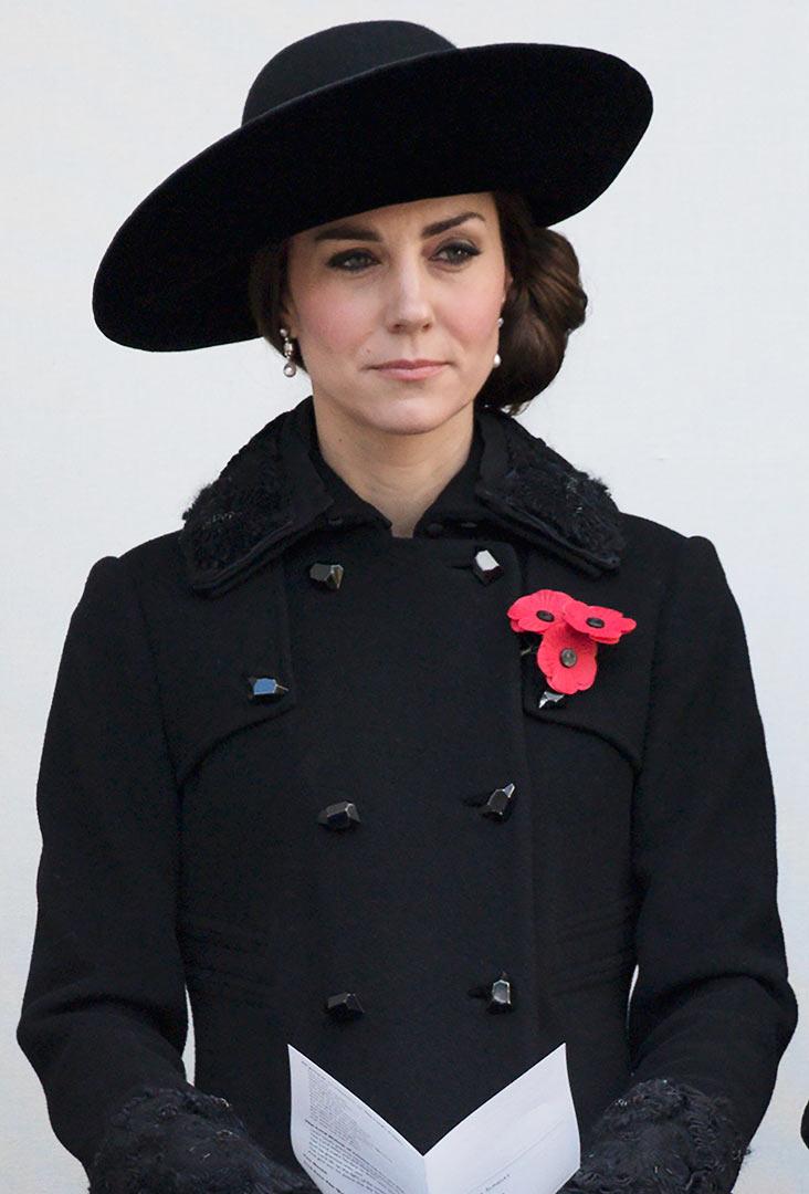 Duchess Kate observes Remembrance Sunday on November 13.