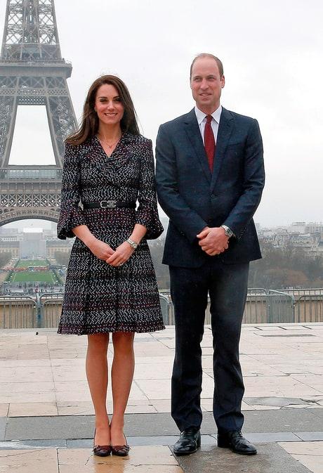 Prince William and Duchess Kate visit Paris