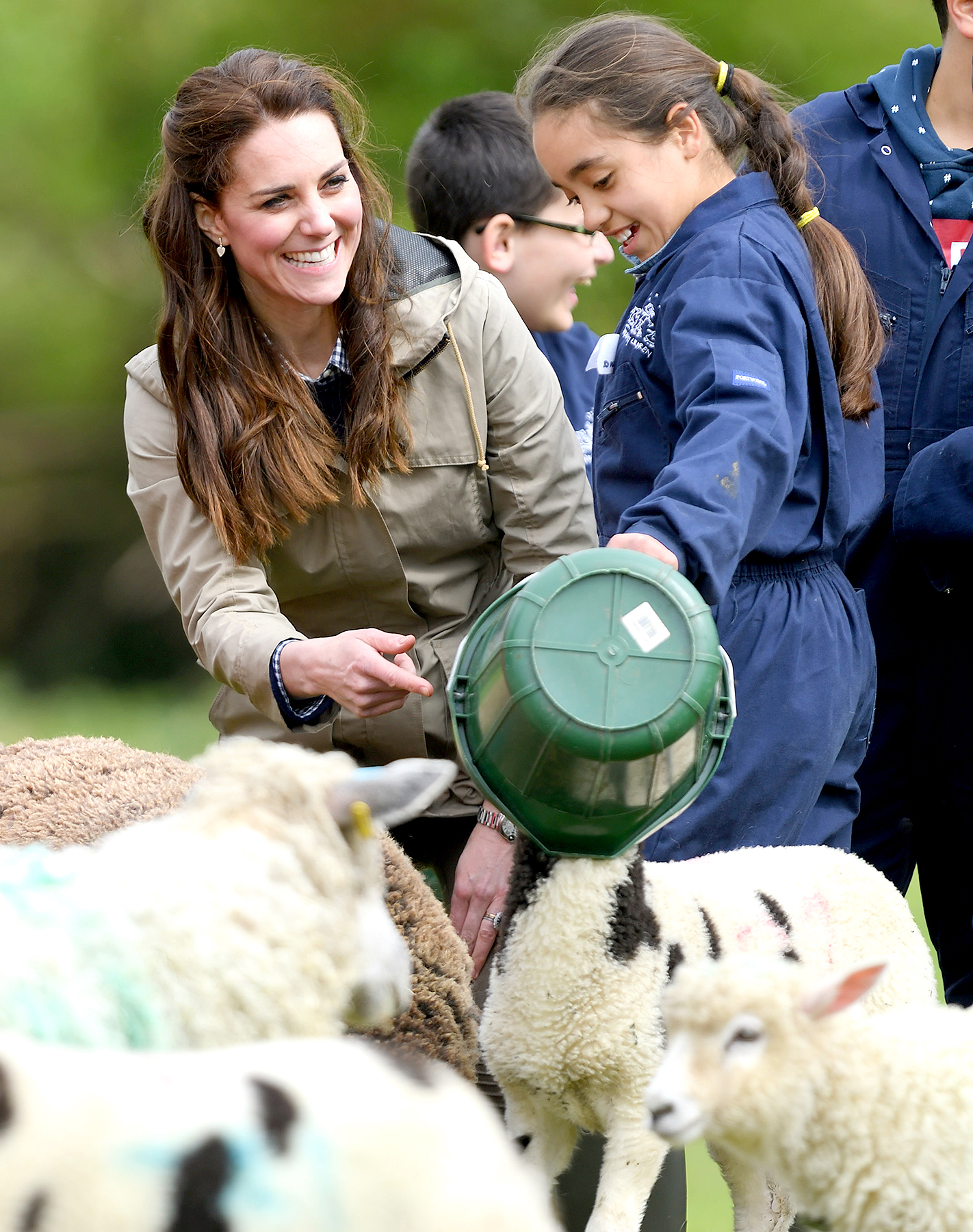 Catherine, Duchess of Cambridge visits Farms for City Children on May 3, 2017 in Arlingham, Gloucestershire.