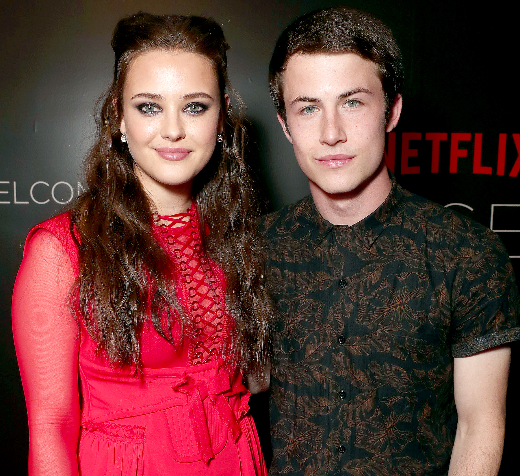 Katherine Langford and Dylan Minnette attend Netflix's FYSEE Kick-Off Event at Netflix FYSee Space on May 7, 2017 in Beverly Hills, California.