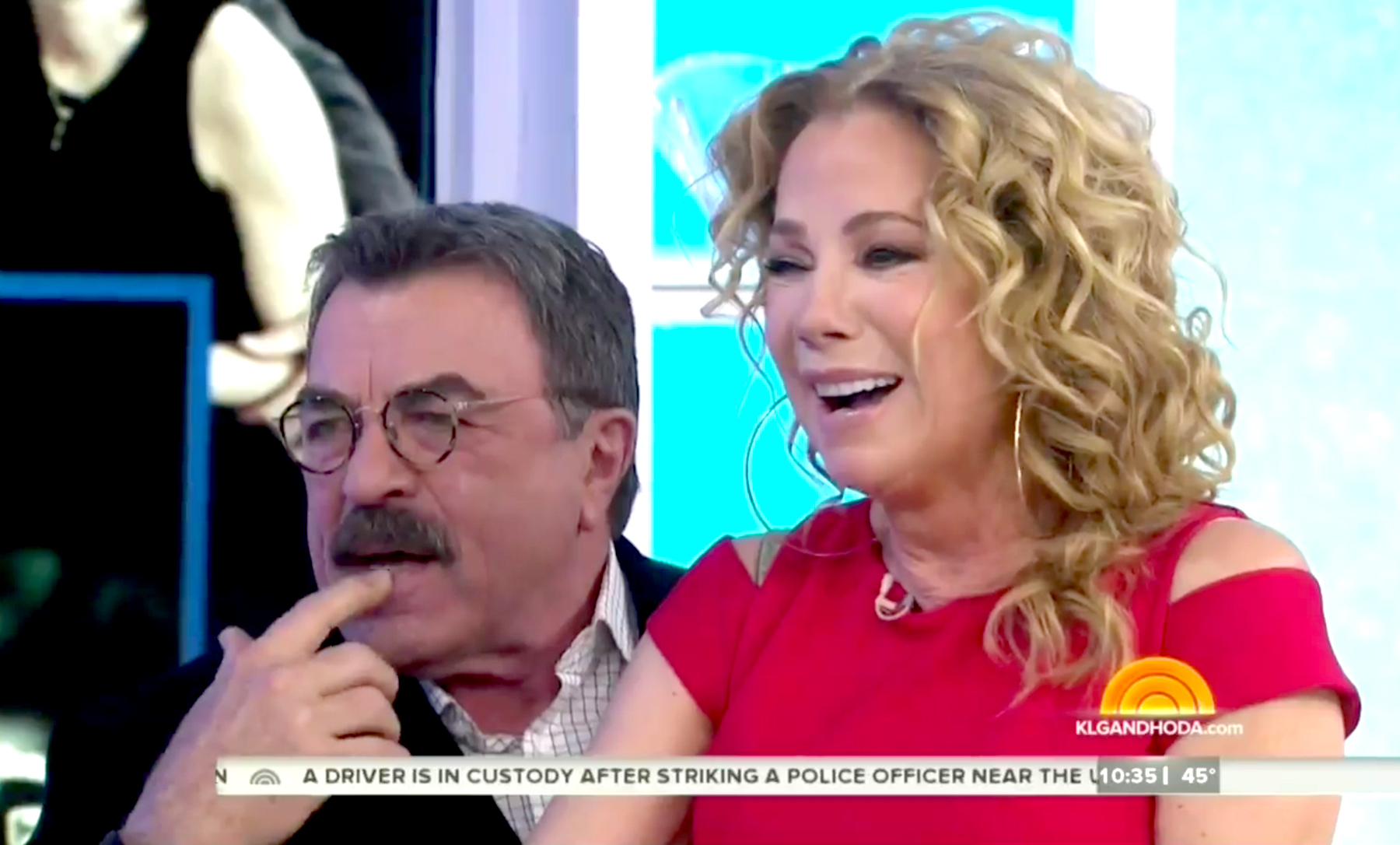 Kathie Lee Gifford and Tom Selleck